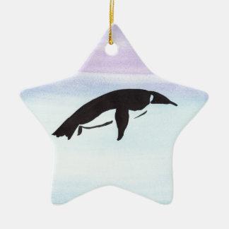 Schwimmen-Pinguin Keramik Stern-Ornament