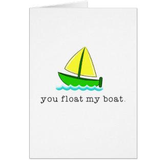 Schwimmen Sie mein Boot Karte