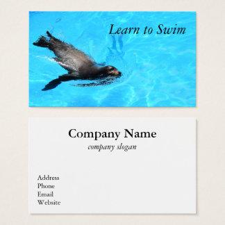 Schwimmen-Siegel-Geschäfts-Karte Visitenkarte