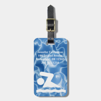 Schwimmende Entwurfs-Gepäckanhänger Adress Schild