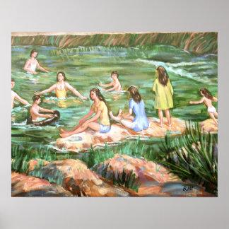 Schwimmende Kinder Poster