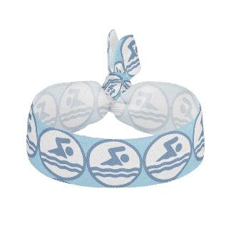 Schwimmer-blaue Schwimmen und TauchHaargummi Haargummi
