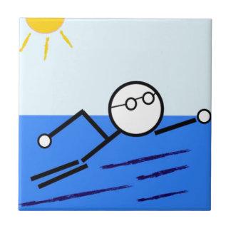 Schwimmer Fliese