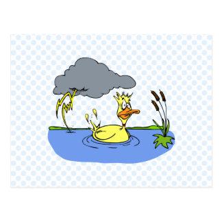 Schwindlige Ente Postkarte