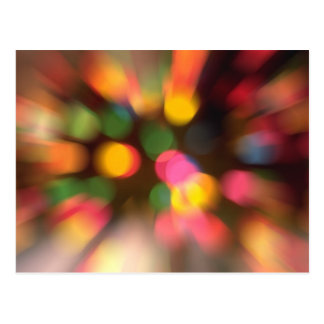 Schwindlige Licht-Postkarte Postkarte