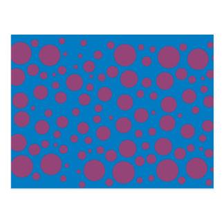 Schwindlige Punkte der lila des Postkarte
