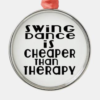 Schwingen-Tanz ist billiger als Therapie Rundes Silberfarbenes Ornament