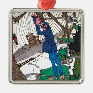 Schwingenzeit Silbernes Ornament