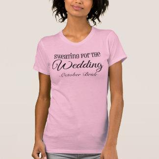 Schwitzen für das Hochzeitworkout-Fitness-Shirt T-Shirt