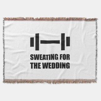 Schwitzen für die Hochzeit Decke