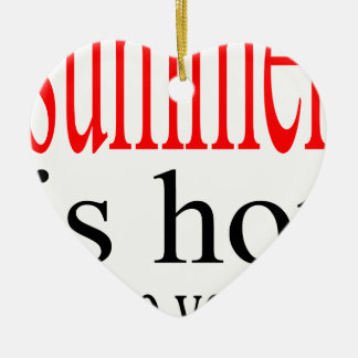 schwitzte heiße Flirt-Liebe des Sommers Paarfreund Keramik Herz-Ornament
