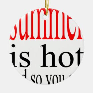 schwitzte heiße Flirt-Liebe des Sommers Paarfreund Rundes Keramik Ornament