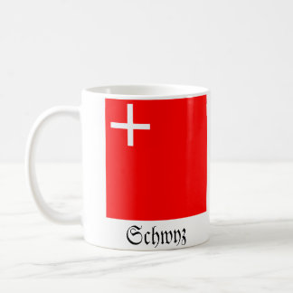 Schwyz, Schweiz Fahnen Flaggen Tasse