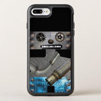 Sci FI-Metallroboter Iphone Fall OtterBox Symmetry iPhone 8 Plus/7 Plus Hülle