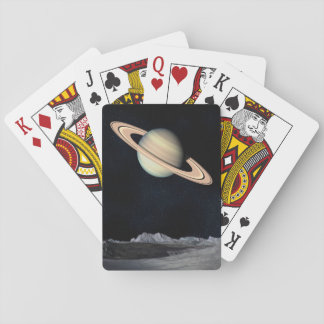 Science Fiction-Raum-Saturn-Planeten-Spielkarten Spielkarten