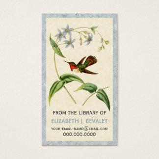 Scintillant Kolibri-personalisierte Medium-Karten Visitenkarte