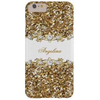 Scintillement argenté de bijou de diamant de Faux Coque iPhone 6 Plus Barely There