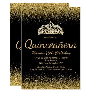 Scintillement d'or, invitations de Quinceanera