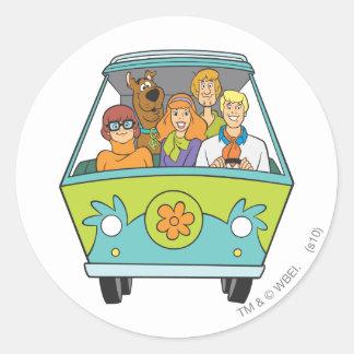 Scooby Doo Pose 71 Runder Aufkleber
