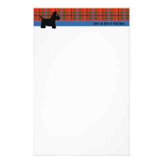 Scottie-kariertes Schreibens-Papier Personalisiertes Büropapier