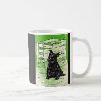 Scottiehund durch spezielle Lieferung Kaffeetasse