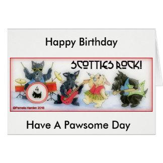Scotties-Felsen-Geburtstags-Karte Grußkarte