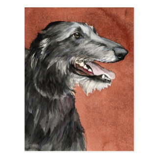 Scottish Deerhound Hundekunst-Postkarte Postkarte