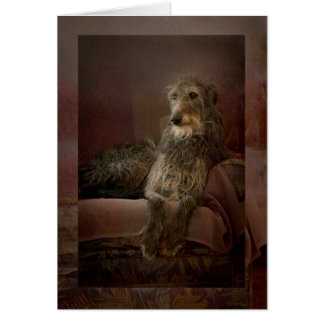 Scottish deerhound man hat Sofa Grußkarte
