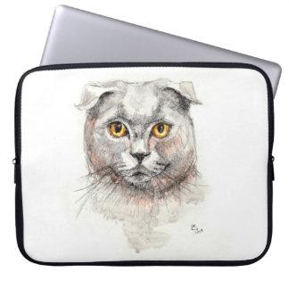 Scottish-Falten-Katze Laptop Sleeve