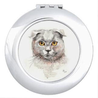 Scottish-Falten-Katze Taschenspiegel