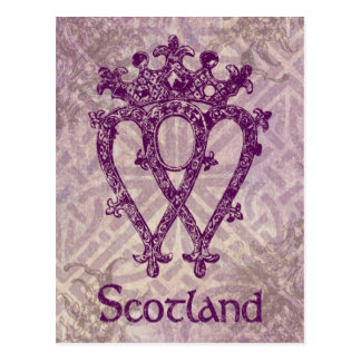 Scottish Luckenbooth lila keltischer Knoten Postkarte