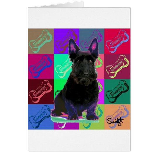 Scottish Terrier Grußkarte