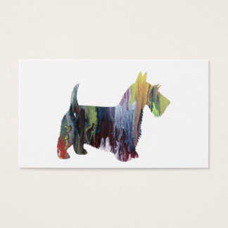 Scottish-Terrier-Kunst Visitenkarte