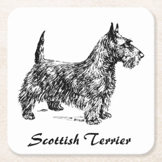 Scottish Terrier Rechteckiger Pappuntersetzer