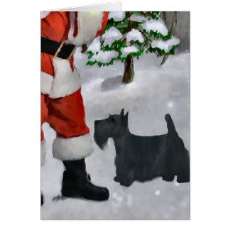 Scottish-Terrier-Weihnachtsgeschenke Grußkarte