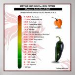 Scoville Hitze-Skala für Poster