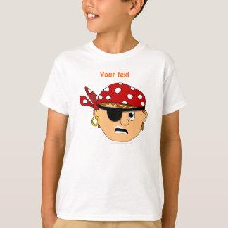 Scowling Jungen-niedliches Piraten-Material T-shirt