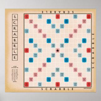 Scrabble Vintages Gamboard Poster
