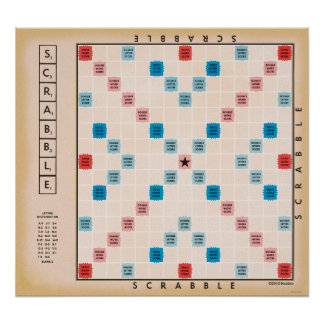 Scrabble Vintages Gameboard Poster
