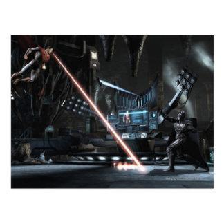 Screenshot: Supermann gegen Batman Postkarte