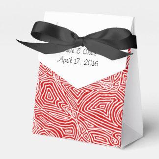 Scribbleprints Rot-Muster Geschenkschachtel