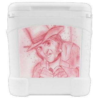 Scrooge im Rot Kühlbox Mit Rollen