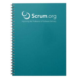 Scrum.org brannte Notizbuch ein Spiral Notizblock