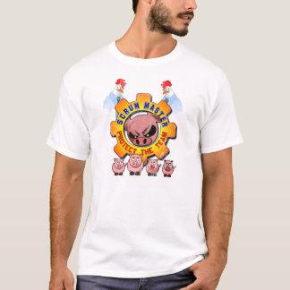 Scrum-Vorlagenhühner und Schweine Vintag/Retro T-Shirt