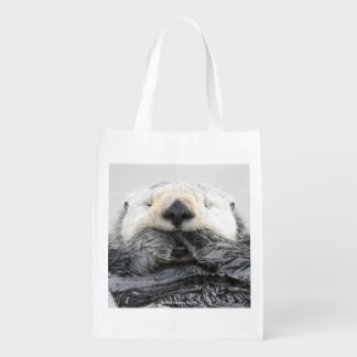 Sea Otter Sleeping Wiederverwendbare Einkaufstasche