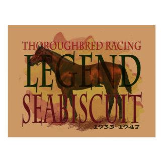 Seabiscuit - Thoroughbred-laufende Legende Postkarte