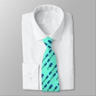Seafoam diagonale Seepferd-Krawatte Krawatte