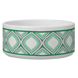 Seafoam grüne Ogee Keramik-Hundeschüssel Napf