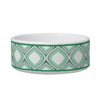 Seafoam grüne Ogee kleine Keramik-Hundeschüssel Napf
