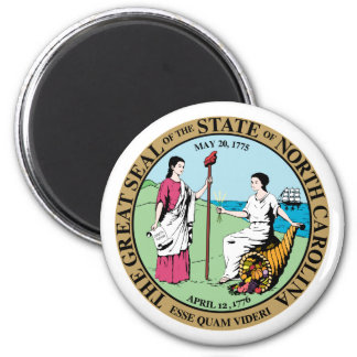 Seal_of_North_Carolina Runder Magnet 5,7 Cm